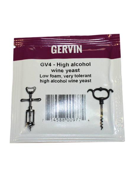Винные дрожжи Gervin High Alcohol Wine GV4, 5 г