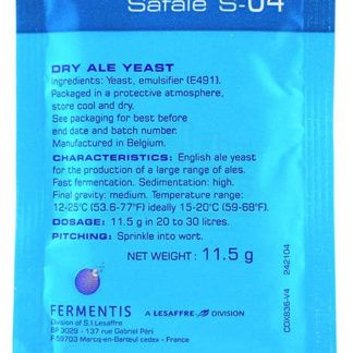 Дрожжи Fermentis Safale S-04, 11,5 г