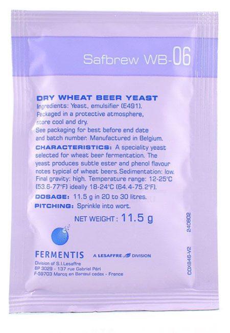Дрожжи Fermentis Safale WB-06, 11,5 г
