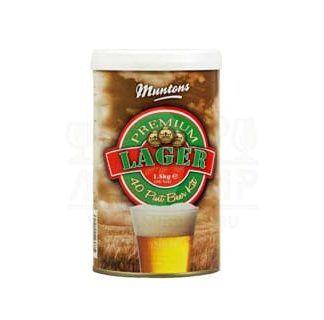 Muntons Lager, 1,5 кг., на 23 л пива. Производитель, компания Muntons (Англия).