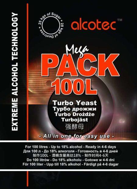 Спиртовые дрожжи Alcotec MegaPack 100L, 360 г