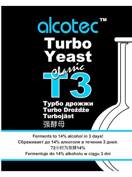 Спиртовые дрожжи Alcotec Turbo 3, 120 г