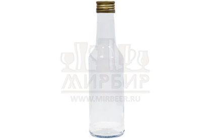 Бутылка стеклянная Чекушка 250мл с пробкой