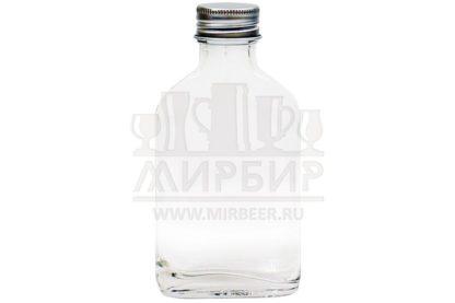 Бутылка стеклянна Фляжка 100мл с пробкой