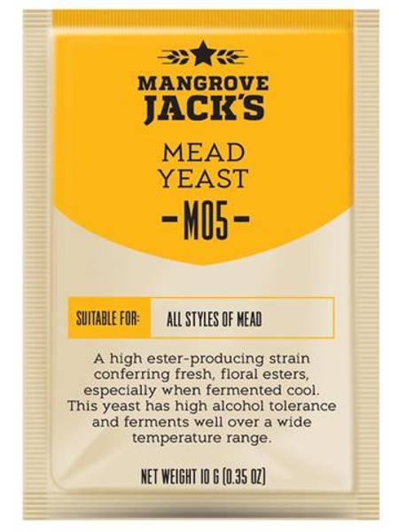 Дрожжи для медовухи Mangrove Jack's Mead M05, 10 г