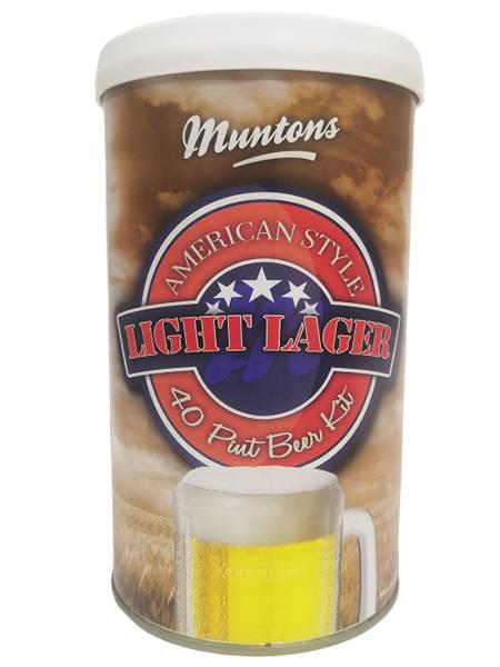 Солодовый экстракт Muntons American Light Lager, 1,5 кг